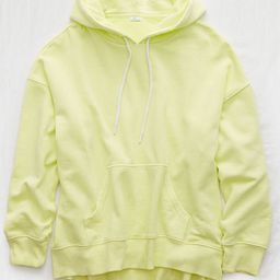 Aerie Weekend Oversized Hoodie Women's Lemon Lime Infusion S   American Eagle Outfitters (US & CA)