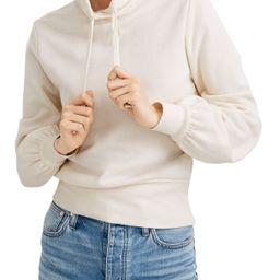 Women's Madewell Bubble Sleeve Hoodie Crop Sweatshirt, Size X-Small - Ivory | Nordstrom