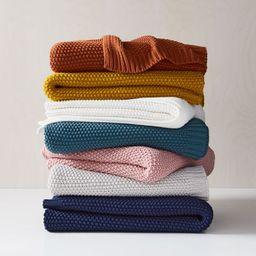 Cotton Knit Throws | West Elm (US)
