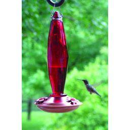 Medium Jewel Cut Ruby Glass Hummingbird Feeder   Walmart (US)