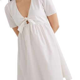 Women's Madewell Tie-Front Minidress   Nordstrom