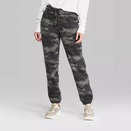 Women's Camo Print High-Rise Vintage Jogger Sweatpants - Wild Fable™ (Regular & Plus) Gray | Target