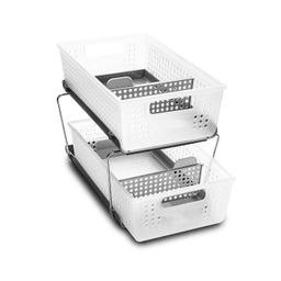 Two-Tier Organizer with Dividers Frost/Gray - Madesmart | Target