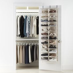 24-Pocket Over the Door Shoe Organizer | The Container Store