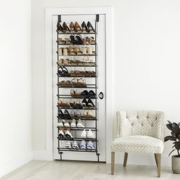 Graphite 36-Pair Over the Door Shoe Rack | The Container Store