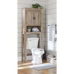 Better Homes & Gardens, Modern Farmhouse Northampton Over the Toilet Bathroom Space Saver, Rustic... | Walmart (US)