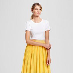 Women's Regular Fit Fitted Short Sleeve Crewneck T-Shirt - A New Day White XL, Women's, Size: XL   Target