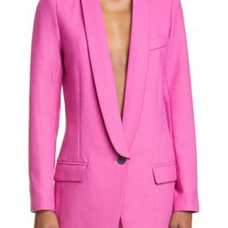 Women's Smythe Long Shawl Collar Blazer, Size 6 - Purple | Nordstrom