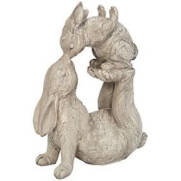 Resin Kissing Bunnies Figurine by Gerson Co. | QVC