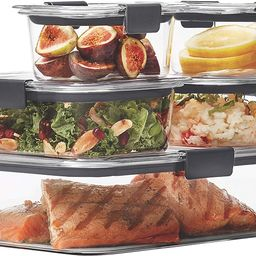 Rubbermaid Brilliance Leak-Proof Food Storage Containers with Airtight Lids, Set of 5 (10 Pieces ... | Amazon (US)