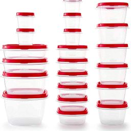 Rubbermaid Easy Find Vented Lids Food Storage Containers, Set of 21 (42 Pieces Total), Racer Red | Amazon (US)