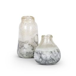 Gerson Set of 2 Pinched Glass Vases (Large measures 9-inches tall, smaller measures 6-inches tall...   Walmart (US)