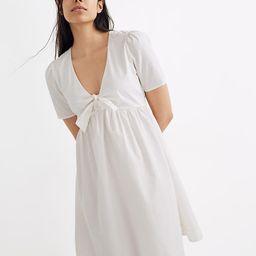 Tie-Front Mini Dress   Madewell