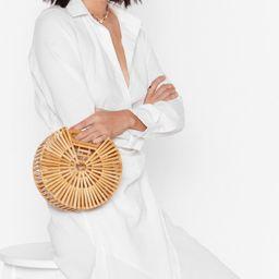 One Size Wooden Circle Grab Bag   NastyGal (US & CA)