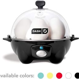 Dash DEC005BK black Rapid 6 Capacity Electric Cooker for Hard Boiled, Poached, Scrambled Eggs, or... | Amazon (US)
