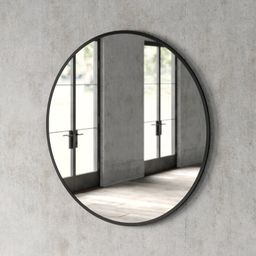 "32"" x 32"" Black Needville Modern & Contemporary Accent Mirror   Wayfair North America"