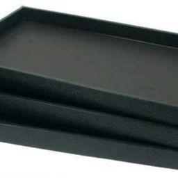 FindingKing 3 Black Leather Jewelry Display Trays Showcase Displays | Amazon (US)
