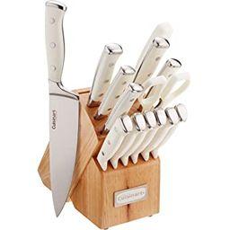 Cuisinart C77WTR-15P Triple Rivet Collection 15-Piece Cutlery Block Set, White | Amazon (US)