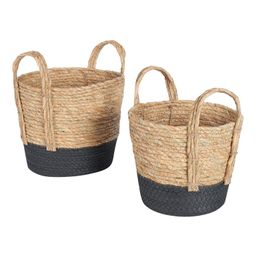Mainstays Natural Seagrass & Paper Rope Baskets, Set of 2   Walmart (US)