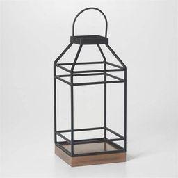 "12"" Hanbury Metal Outdoor Lantern with No Glass Black- Smart Living   Target"