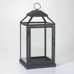 """17"""" Gideon Metal Outdoor Lantern with Door Black - Smart Living   Target"""