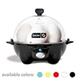 Dash DEC005BK black Rapid 6 Capacity Electric Cooker for Hard Boiled, Poached, Scrambled Eggs, or Om | Amazon (US)