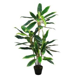 """Northlight 55"""" Dracaena Artificial Potted Plant - Green/Red 