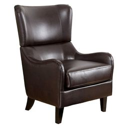 Elijah Bonded Leather Sofa Chair Brown - Christopher Knight Home | Target