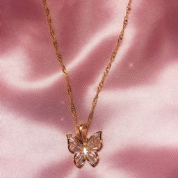 Enchanted Butterfly Necklace - 18k Gold filled butterfly pendant - butterfly charm - Dainty Neckl...   Etsy (CAD)