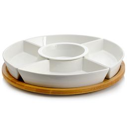 Elama Signature 12 1/4 Inch 6pc Lazy Susan Appetizer and Condiment Server Set with 5 Serving Dish...   Walmart (US)