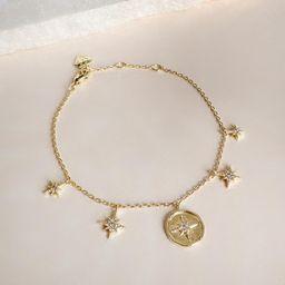 Makes Me Wonder Gold Bracelet   Wanderlust + Co