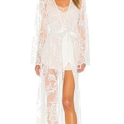 homebodii Madeleine Long Lace Robe in White from Revolve.com   Revolve Clothing (Global)