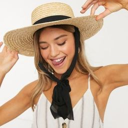 My Accessories London straw hat with tie detail | ASOS US