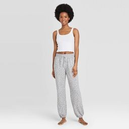Women's Leopard Print Jogger Pants - Colsie™ Gray | Target