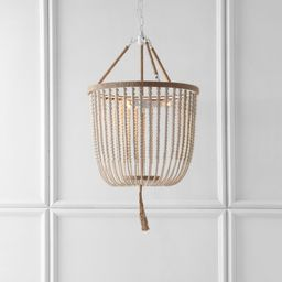 Brown Leyva 3 - Light Unique / Statement Empire Chandelier with Beaded Accents   Wayfair North America