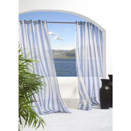 Odessa Striped Sheer Outdoor Grommet Single Curtain Panel | Wayfair North America