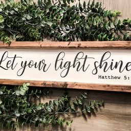 Let Your Light Shine Sign| Bible Verse Sign| Scripture Sign| Matthew 5:16| Wood Sign| Farmhouse S... | Etsy (US)