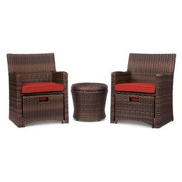 Halsted 5pc Wicker Small Space Patio Furniture Set - Threshold™ | Target