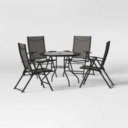 Kingman 5pc Sling Folding Patio Dining Set - Dark Gray  - Project 62™ | Target