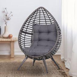 Wicker Patio Chair with Cushions | Wayfair North America