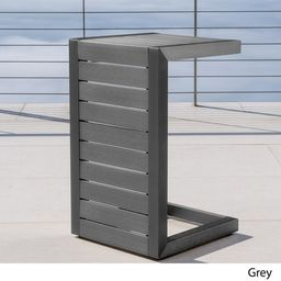 Cape Coral Outdoor C-Shape Aluminum Side Table by Christopher Knight Home | Overstock