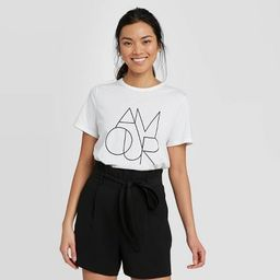 Women's Slim Fit Amour Short Sleeve Round Neck T-Shirt - A New Day™   Target