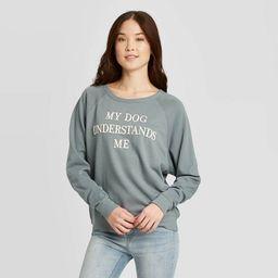 Women's My Dog Understands Me Sweatshirt - Grayson Threads (Juniors') - Gray   Target