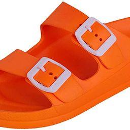 Women's Comfort Slides Double Buckle Adjustable EVA Flat Sandals   Amazon (US)