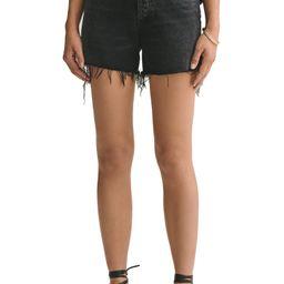 Dee Distressed Super High Waist Denim Shorts | Nordstrom