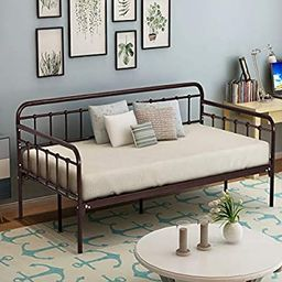 HOMERECOMMEND Metal Daybed Frame Twin Steel Slats Platform Base Box Spring Replacement Bed Sofa f... | Amazon (US)