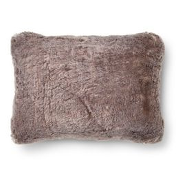 "Gray Faux Fur Oblong Throw Pillow (14""x20"") - Threshold™   Target"