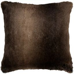 Solid Faux Fur Pillow Brown - Rizzy Home   Target