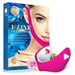 V Line Lifting Mask 7Pcs Double Chin Reducer V-Shaped Lifting Slimming Mask Powerful Moisturizing Fi   Amazon (US)