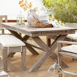 Indio X-Base Extending Dining Table | Pottery Barn (US)